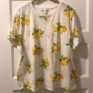 Lemon print cotton t-shirt 3X 🍋